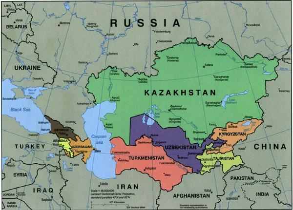A WEEK IN UZBEKISTAN - Uzbekistan map